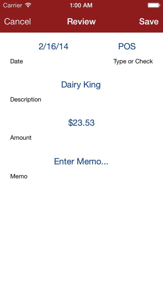 Screenshot #5 for My Checkbook