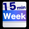 Week Table 15min - 曜日週間時間割/タイムスケジュール・タイムテーブル/予定表・計画表/シンプルで簡単だから時間管理が苦手な方にもおすすめなスケジューラー