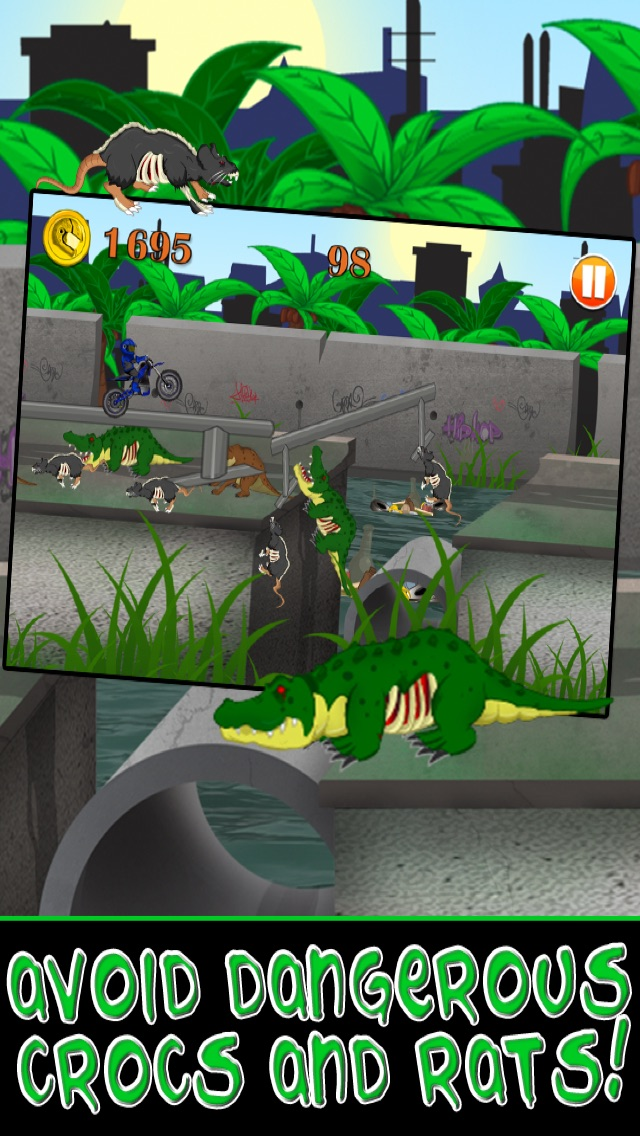 Motorcycle Bike Race Escape : Speed Racing from Mutant Sewer Rats & Turtles Game - For iPhone & iPad EditionСкриншоты 2