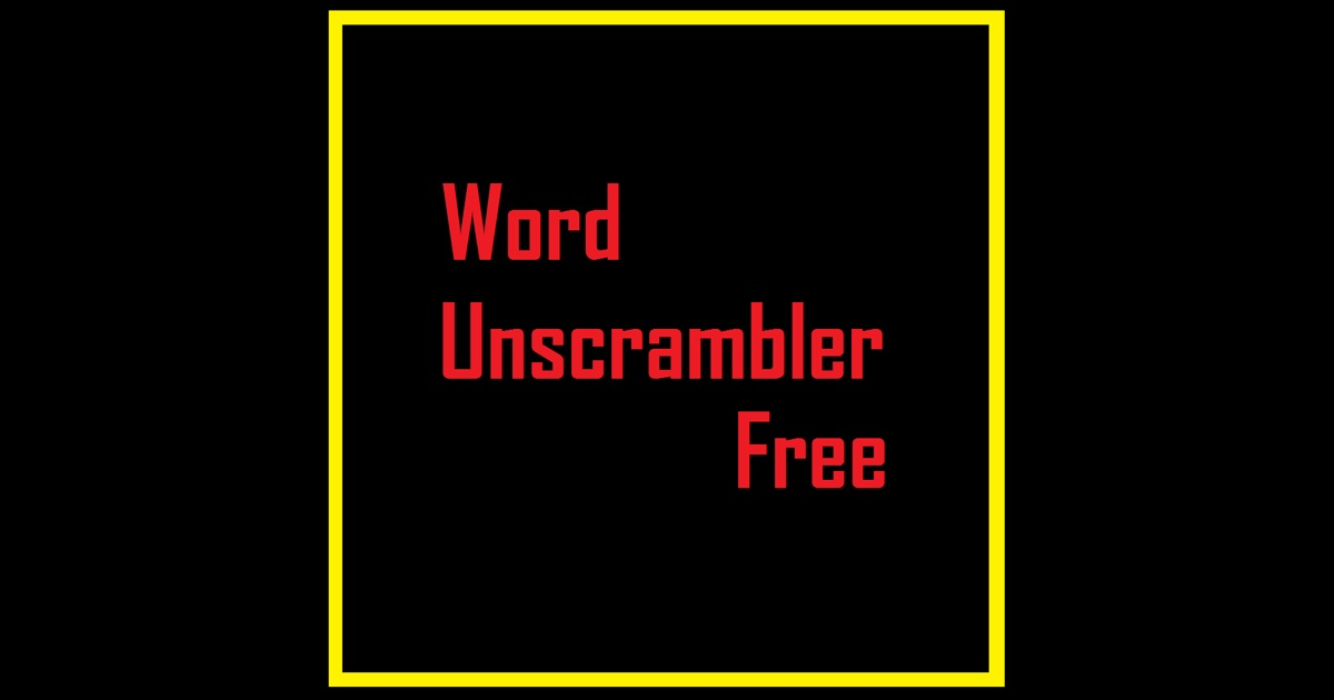 Word unscrambler free on the app store for Window unscramble
