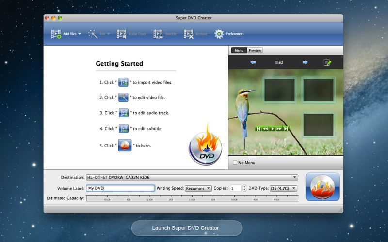 Super DVD Creator-Burn Any Video to DVD DMG Cracked for Mac