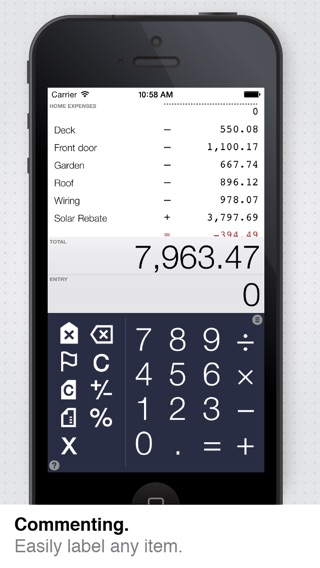 Digits Calculator for iPad + iPhone Screenshot