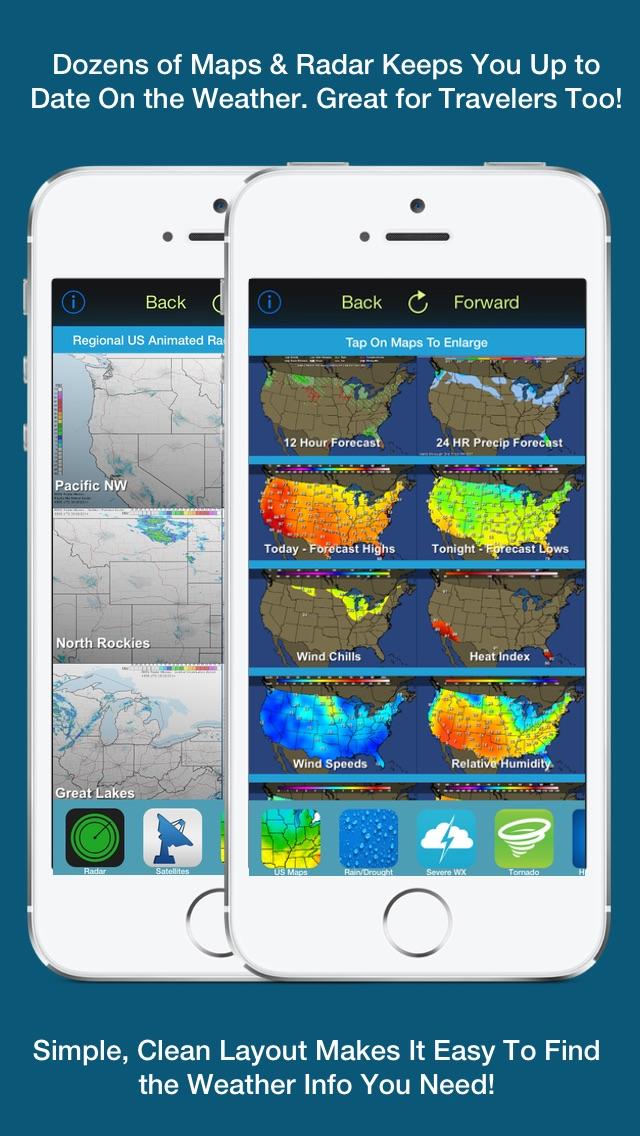 Screenshot #2 for US Weather Tracker - Weather Maps, Radar, Severe & Tornado Outlook & NOAA Forecast