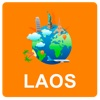 Laos Off Vector Map - Vector World