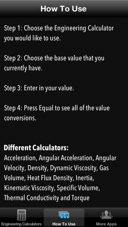 Engineering Calculators including Angular Acceleration, Dynamic Viscosity,  Thermal Conductivity plus more by Unicorn Multimedia