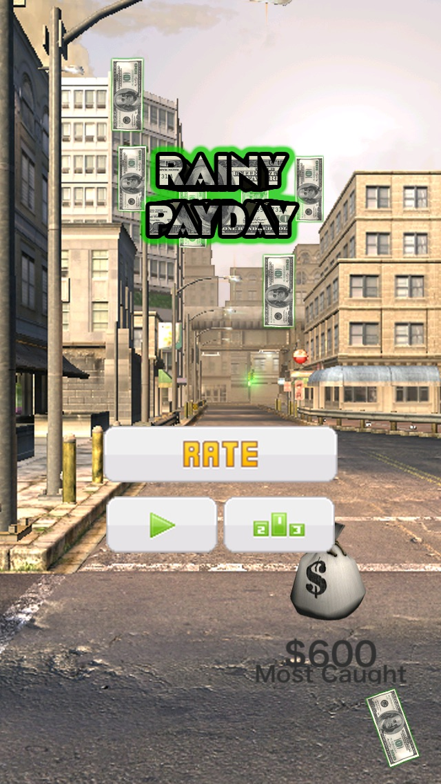 Дождливый Зарплата День (Rainy PayDay) - Играть бесплатное деньги игра, где вы должны быть очень быстрой Разбогатеть!Скриншоты 4