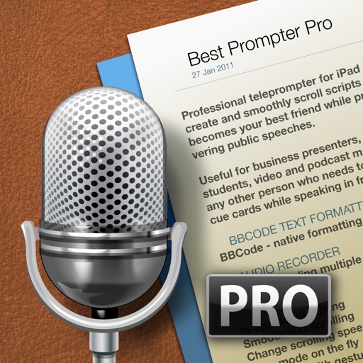 Best Prompter Pro - teleprompter iOS App