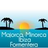 Baleares Majorca Minorca Ibiza map in motion
