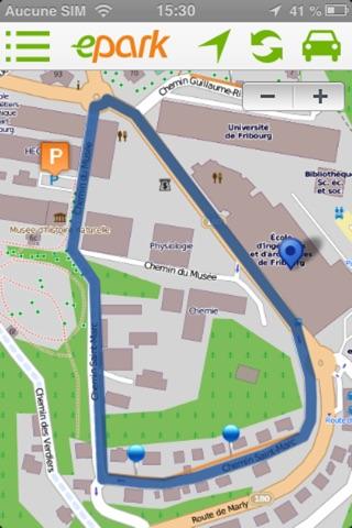 ePark  : Trouve-moi une place de parc en ville ! screenshot 4