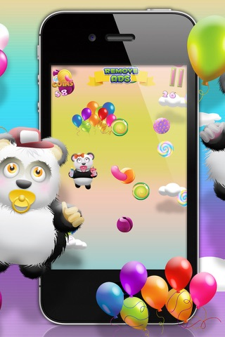 Baby Panda Bears Candy Rain - A Fun Kids Jumping Edition FREE Game! screenshot 3