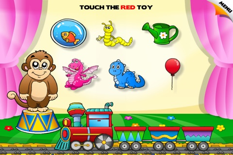Preschool Colors Toys Train • Kids Love Learning Colors: Fun Interactive Educational Adventure Games with Animals, Cars, Trucks and more Vehicles for Children (Baby, Toddler, Kindergarten) by Abby Monkey® screenshot 2