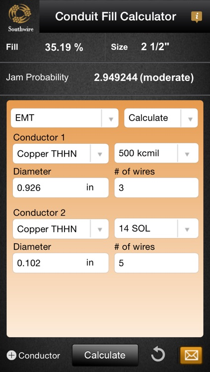 Southwire conduit fill calculator by southwire company southwire conduit fill calculator keyboard keysfo Images