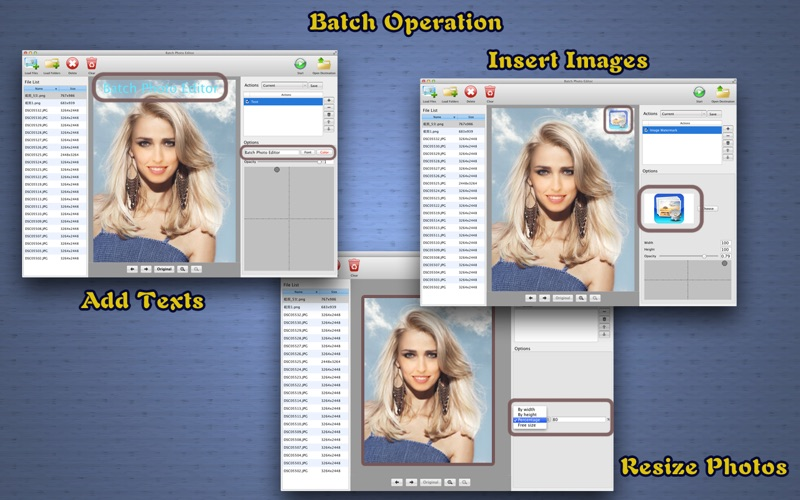Batch Photo Editor - Watermark, Resize and Effects Screenshot