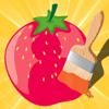 Libro para colorear de frutas y verduras para los niños pequeños y los niños: Juego con muchas fotos como manzana, plátano, uva, limón, pera, fresa. Aprender de guardería, preescolar o guardería escuela