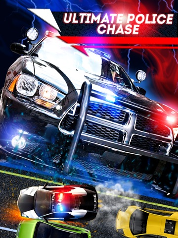 Screenshot #1 For 2D Fast Police Car Chase Game   Free Real Speed Driving  Racing ...