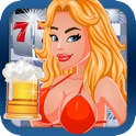 Cute Girls Love Beer and Slots - Vegas Style Lady Luck 777 Casino Slot Machine Jackpot Game