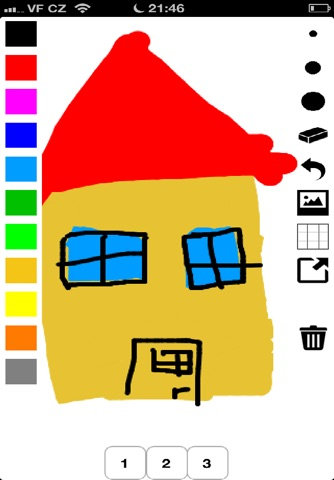 Kids Finger Paint brush screenshot 3