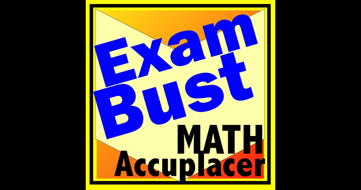 accuplacer math prep flashcards exambusters app store. Black Bedroom Furniture Sets. Home Design Ideas