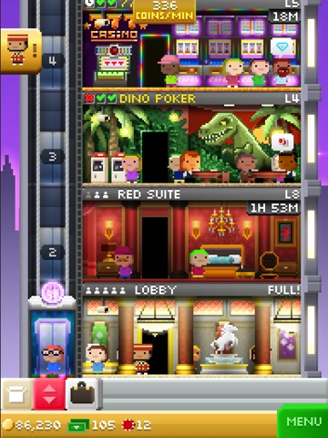 Screenshots of Tiny Tower Vegas for iPad