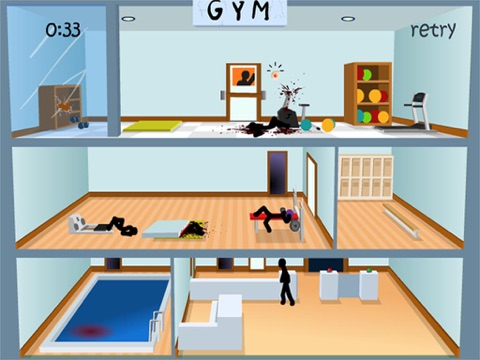 Screenshots of Click Death Gym - Stickman Edition for iPad