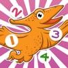 123活躍!兒童遊戲與恐龍! 學習數 1-10的數字與恐龍,冰河時代,石器時代,滅絕的動物。對於幼兒園,幼兒園或托兒所