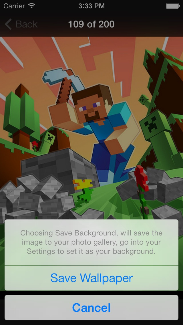 Screenshots of NEW Wallpapers for Minecraft Edition - Backgrounds & Mini Mine Forum for iPhone