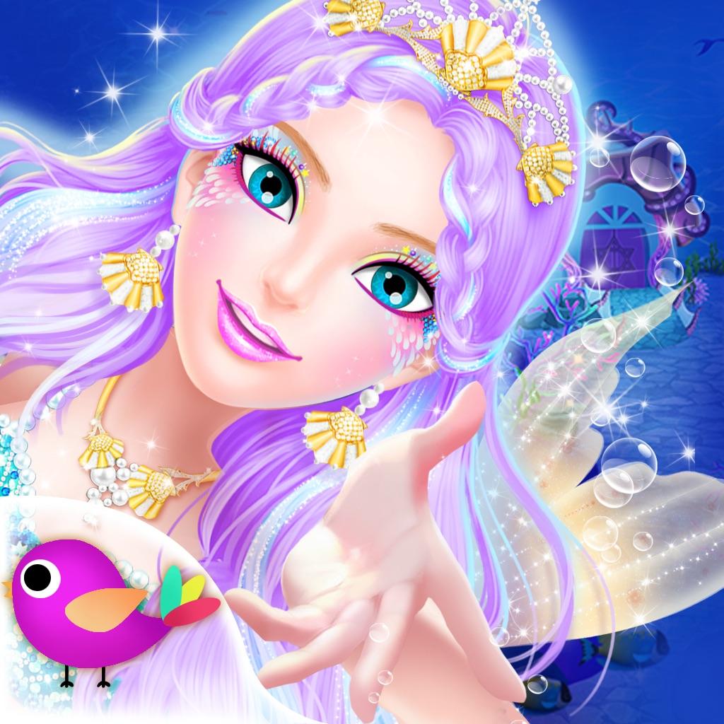 Princess salon mermaid doris on the app store for 4 dollz only salon