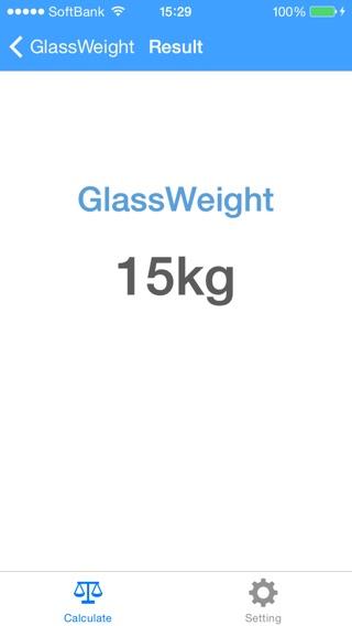 Glass Weight Load Calculator