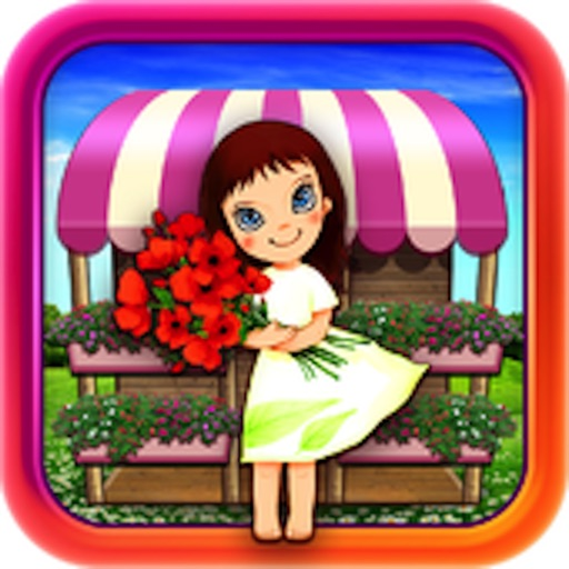 Gold Designer Flower Girl HD iOS App
