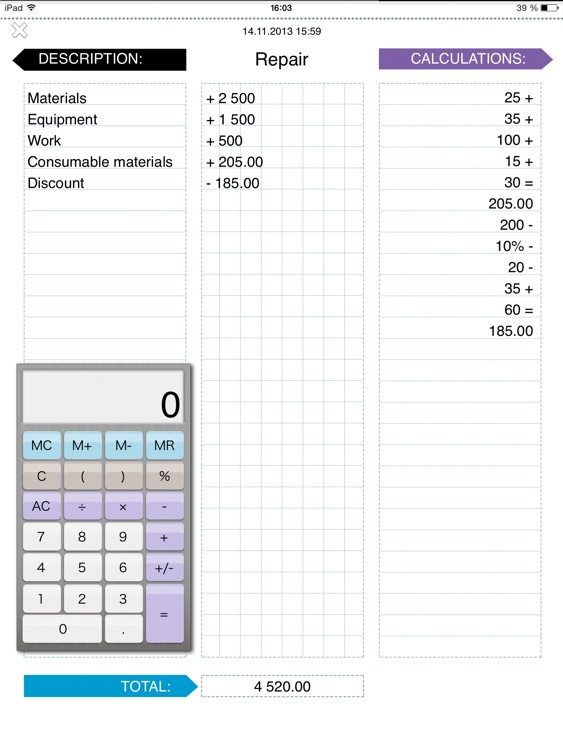 pnl profit and loss notes with calculator by llc sport star