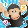 123遊戲兒童2-5歲左右的野生動物園的動物: 學習數 數字1-10與獅子,老虎,大象,鱷魚,河馬,猴子和鸚鵡。對於幼兒園,幼兒園或托兒所