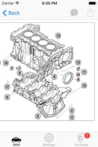 Parts and diagrams for MINI screenshot 2
