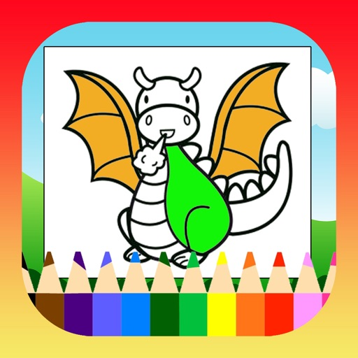Dragon Coloring Book For Kids Free iOS App