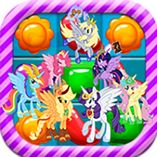 Candy Jelly Match 3 Crush Garden Game - My Little Pony version iOS App