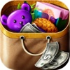 Shopping Game Kids Supermarket help mom with the shopping list and to pay the cashier shopping