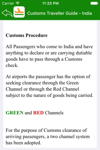 Customs Traveller Guide India screenshot 2