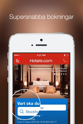 Hotels.com - Hotel booking screenshot 1