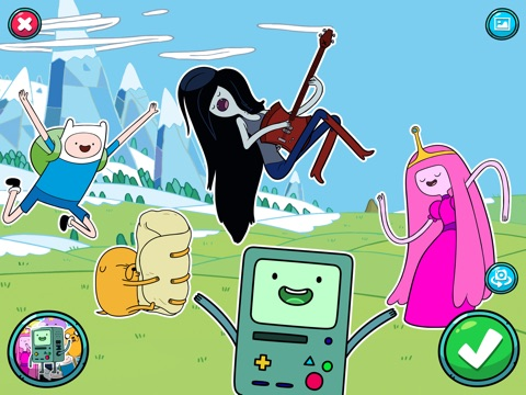 BMO Snaps — фотоигра по мультсериалу «Время приключений» Screenshot