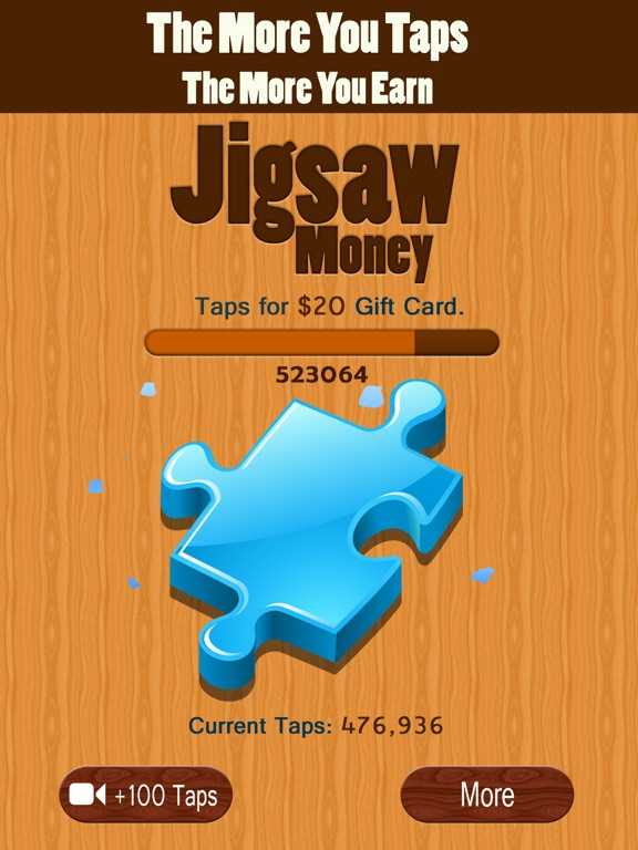 Screenshots of Jigsaw Money - Make Money Tapping for iPad