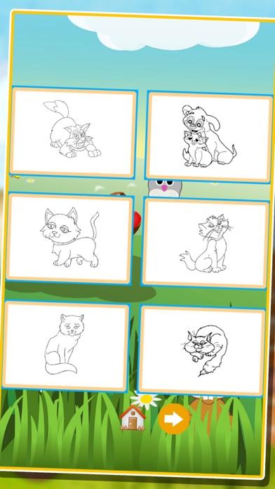 Screenshot of bambini animale libro da colorare: cute cane gatto pittura gattino pony per prescolare4