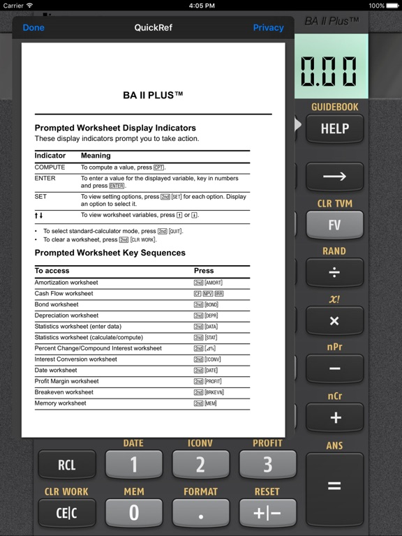 Ba Ii PlusTm Financial Calculator On The App Store