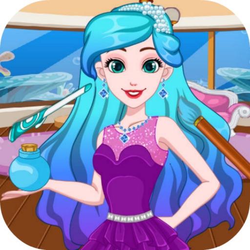 帮漂亮可爱的美人鱼公主设计时尚发型 5.