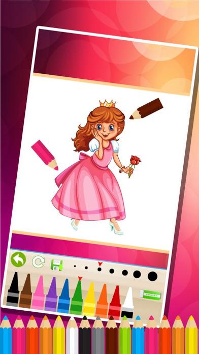 princesse des pages à colorier - Jeux de peinture pour les enfantsCapture d'écran de 2