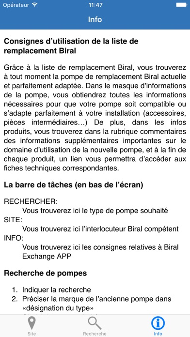 Capture d'écran de Biral Exchange5