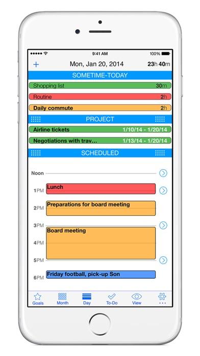 Calendar Planner — an App that Creates Time Screenshot