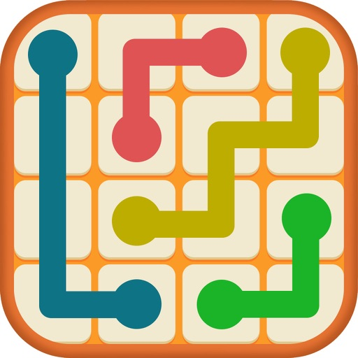 Number Link - Logic Color Twisty Line Path Puzzle Icon
