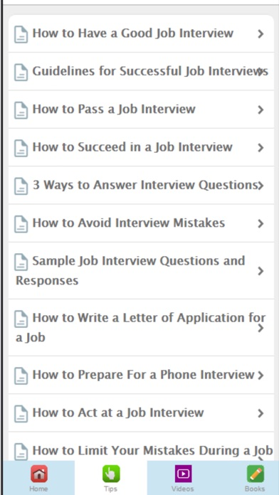 how to have a good job interview