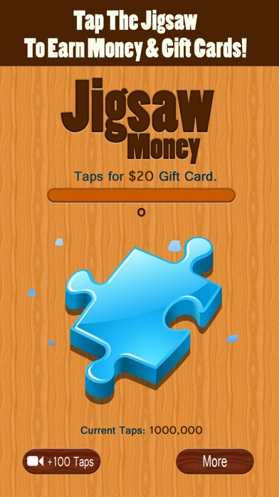 Screenshots of Jigsaw Money - Make Money Tapping for iPhone