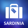 Sardaigne, Italie Hors ligne Carte detaillee