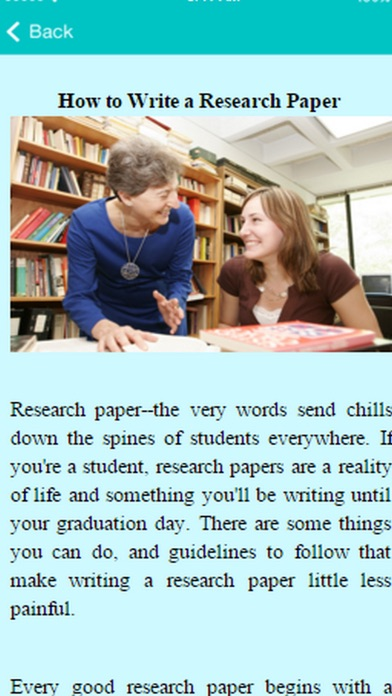 How To Write A Reaserch Paper